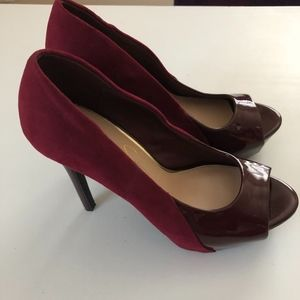Jessica Simpson Wine Colored Platform Heel